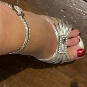 Silver (dressy) Size 7 gently used High Heels
